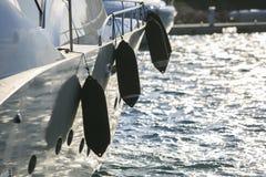 Роскошное yatch в порте Стоковая Фотография RF