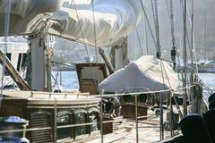Роскошное yatch в порте Стоковое Фото