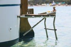 Роскошное yatch на детали моря Стоковая Фотография RF
