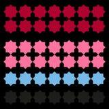 Роскошные арабские орнаменты/чернота с красным цветом, розовым Стоковые Фотографии RF