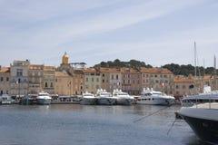 роскошные гаван яхты tropez святой Стоковое Изображение