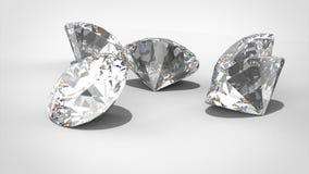 Роскошные диаманты на предпосылках whte - пути клиппирования модель перевода 3D иллюстрация штока
