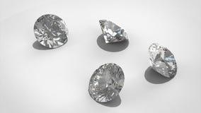 Роскошные диаманты на предпосылках whte - пути клиппирования модель перевода 3D бесплатная иллюстрация