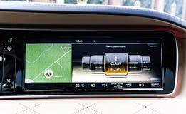 Роскошные детали интерьера автомобиля стоковое фото