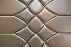Роскошные золотые кожаные стены Стоковые Фото
