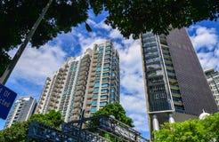 Роскошные квартиры в Сингапуре Стоковое фото RF