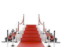 Роскошные красный ковер и барьер иллюстрация штока