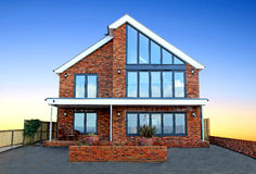 Роскошные новые современные дома стоковое изображение