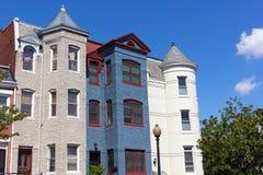 Роскошные дома строки в районе Shaw в DC Вашингтона Стоковое Изображение RF