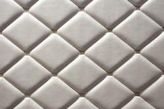 Роскошные стены белой кожи Стоковая Фотография