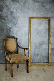 Роскошные стул и рамка Стоковые Изображения