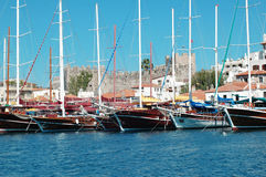 роскошные яхты Стоковое Изображение RF