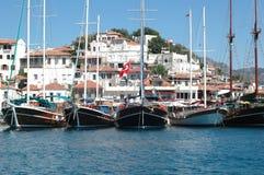 роскошные яхты Стоковые Изображения