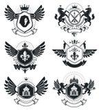 Роскошные heraldic шаблоны эмблемы векторов Blazons вектора первоклассно бесплатная иллюстрация