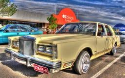 Роскошный автомобиль городка Форда Линкольна американца 1980s Стоковая Фотография RF