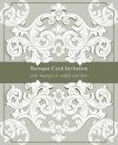 Роскошный барочный вектор предпосылки карточки Богатые имперские затейливые элементы Викторианская королевская картина стиля Стоковое Фото
