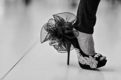 Роскошный ботинок высокой пятки женщин Стоковые Изображения