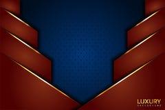 Роскошный Браун и голубая винтажная элегантная предпосылка иллюстрация вектора