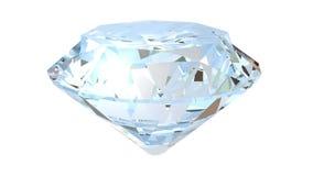 Роскошный диамант Круглый гениальный отрезок видеоматериал