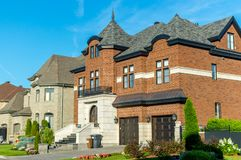 Роскошный дом в Монреале, Канаде Стоковое Изображение RF