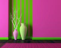 роскошный дизайн интерьера живущая самомоднейшая комната Стоковое Изображение