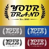 Роскошный дизайн логотипа бренда Стоковое фото RF