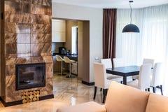 Роскошный интерьер живущей комнаты Стоковые Фото