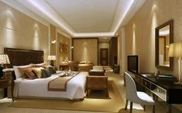 Роскошный интерьер спальни Стоковая Фотография