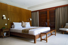 Роскошный интерьер спальни Стоковое Изображение RF