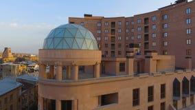 Роскошный комплекс апартаментов в Ереване, армянской недвижимости для ренты, вида с воздуха акции видеоматериалы
