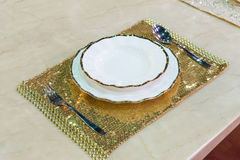 Роскошный комплект плиты фарфора Стоковые Изображения