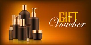 Роскошный косметический ваучер бутылки Стоковые Изображения