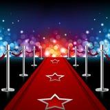 Роскошный красный ковер Стоковое Фото