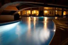 роскошный курорт ночи Стоковые Изображения