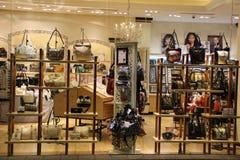Роскошный магазин моды сумки стоковое фото