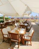 роскошный напольный ресторан Стоковые Фото