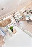 Роскошный домашний интерьер с крупным планом столовой Стоковая Фотография