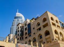 Роскошный отель и небоскребы в центре Дубай стоковая фотография