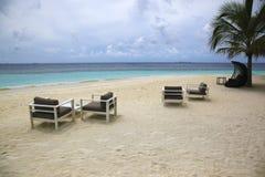 Роскошный песочный мечт пляж Стоковая Фотография