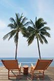 Роскошный пляжный бассейн и океан Стоковые Фото