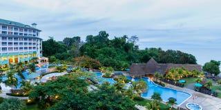 Роскошный пляжный комплекс в Панаме Стоковая Фотография