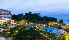 Роскошный пляжный комплекс в Панаме Стоковое Фото