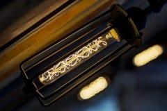 Роскошный светлый накалять оформления лампы Стоковые Изображения