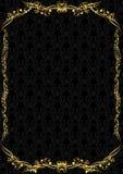 Роскошный черный и золотой пробел Стоковая Фотография RF