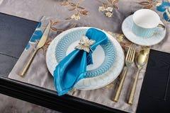 Роскошный dinnerware tableware стоковые изображения rf
