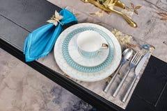 Роскошный dinnerware tableware стоковое фото