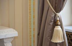 Роскошный silk занавес Стоковая Фотография
