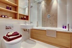 роскошь ванной комнаты самомоднейшая Стоковые Изображения