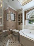роскошь ванной комнаты самомоднейшая Стоковые Фото