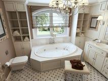 роскошь ванной комнаты самомоднейшая Стоковое Изображение